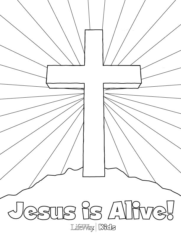 612x792 Jesus Is Alive Coloring Page Az Coloring Pages Coloring Page