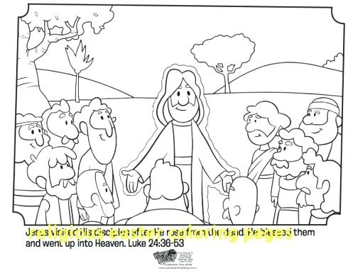 497x385 Jesus Is Alive Coloring Page