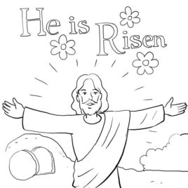268x268 Coloring Page Jesus Is Alive Archives