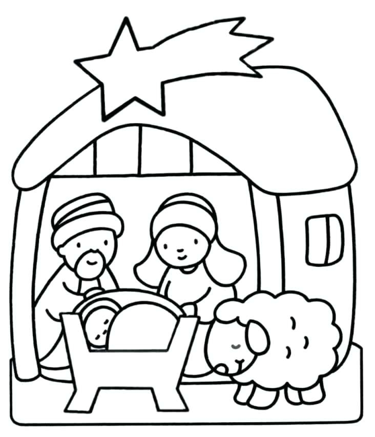 732x853 Jesus Is Born Coloring Pages Inspiration Jesus Birth Coloring