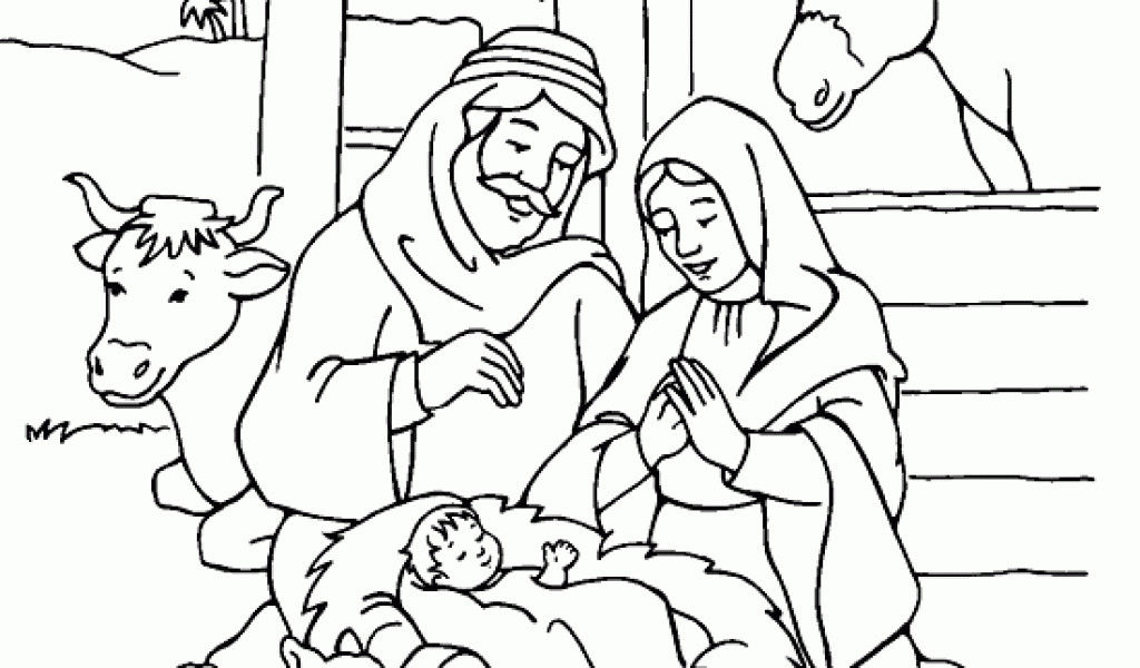 1024x600 Jesus Christmas Coloring Pages Printable Free Printable Coloring