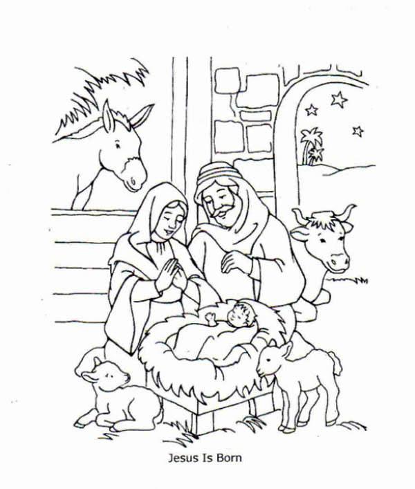 600x707 Jesus Is Born And Jesus Love Me Coloring Page Color Luna
