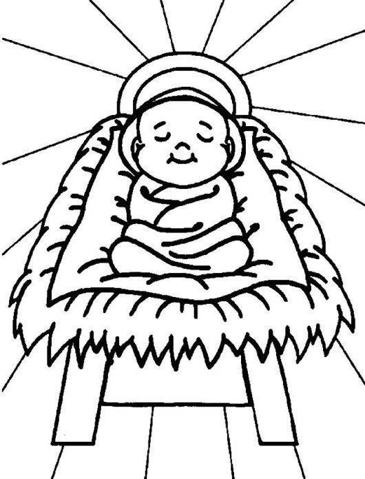 530x695 Birth Of Jesus Christmas Coloring Pages For Kids