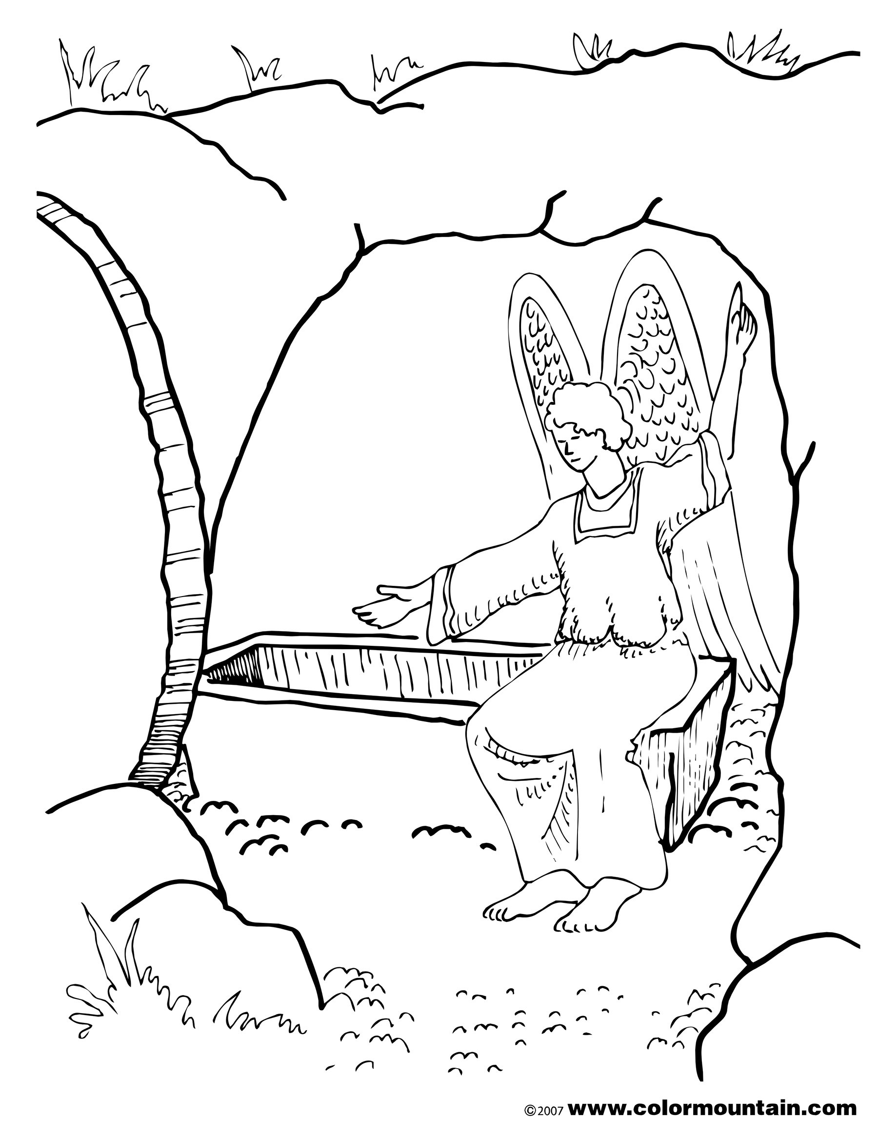 1800x2329 Coloring Pictures Of Jesus Empty Tomb New Resurrection Coloring