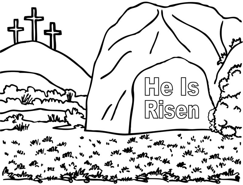 800x611 He Is Risen Coloring Page Crafting The Word Of God