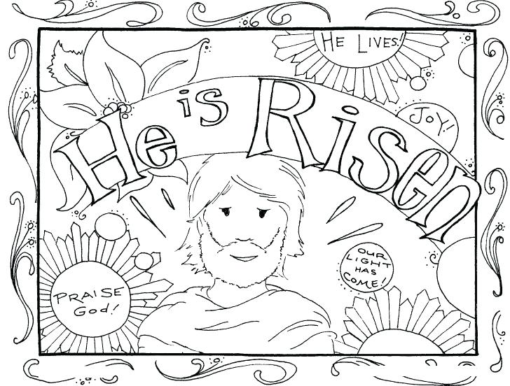 728x552 He Is Risen Coloring Page He Is Risen Coloring Page