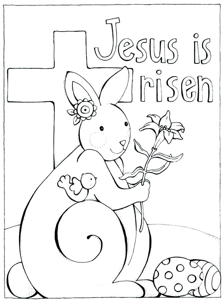 764x1024 Jesus Is Risen Coloring Page Resurrection Coloring Pages Bible