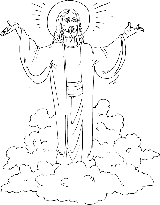 533x682 Christ Is Risen Coloring Page