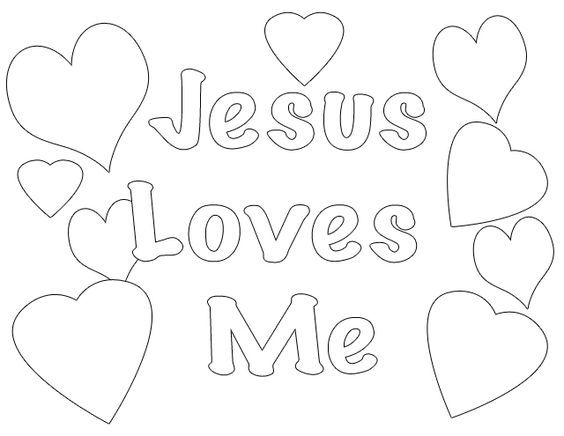 Jesus Loves Me Coloring Page at GetDrawings.com | Free for ...