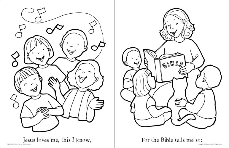 Jesus Loves Me Coloring Page at GetDrawings.com | Free for personal ...