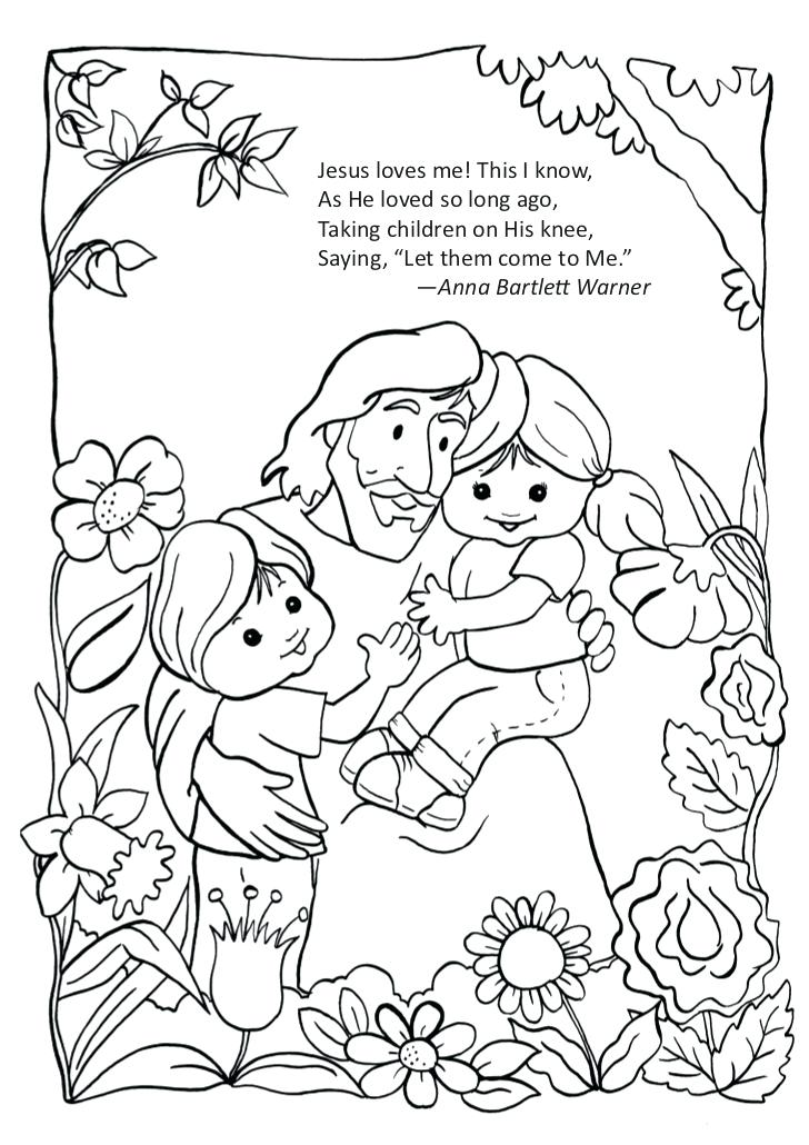 728x1030 Jesus Loves The Children Coloring Page Loves Me This I He Loved So