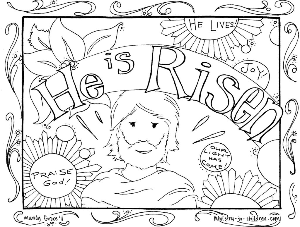 jesus on the cross coloring page 16