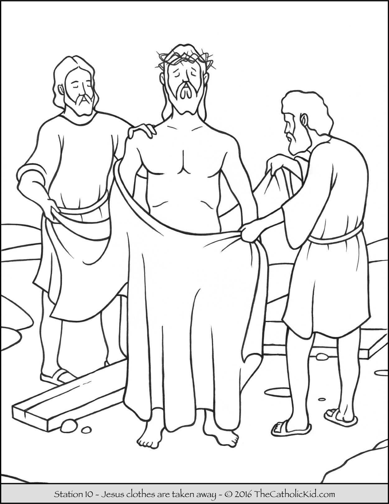 Jesus On The Cross Coloring Page at GetDrawings.com | Free for ...
