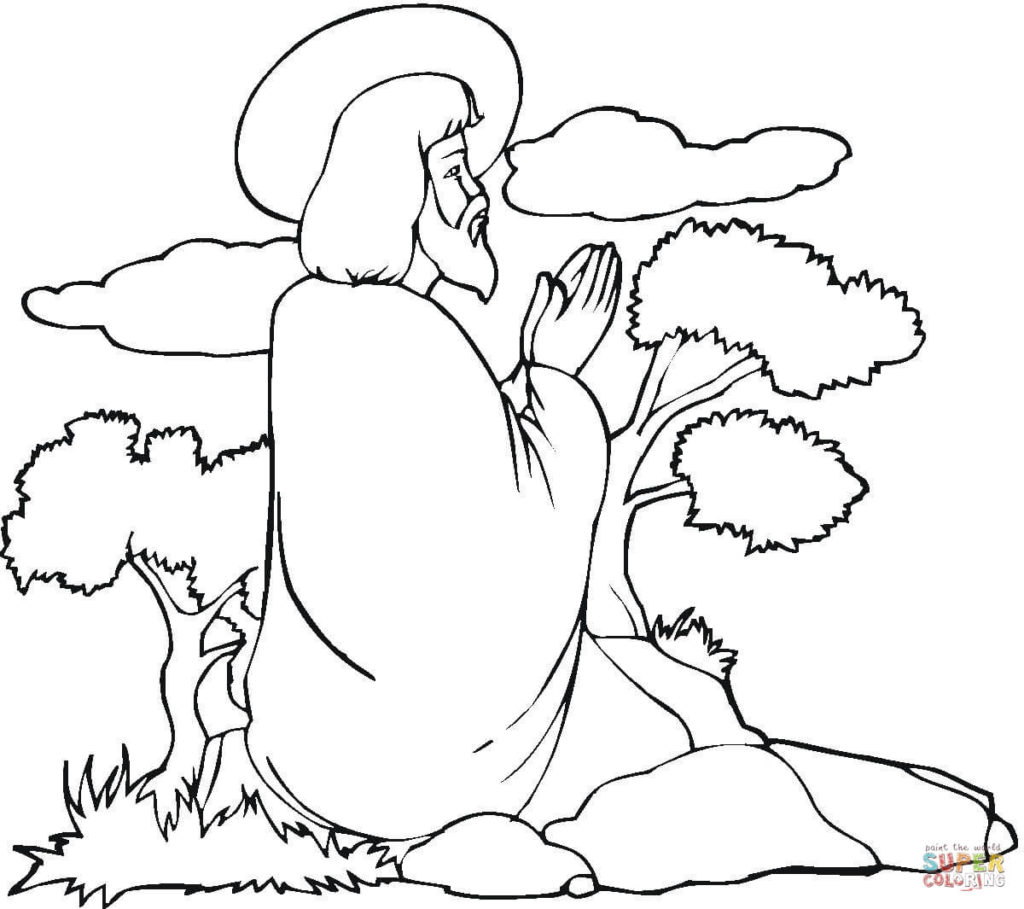 1024x909 Jesus Praying Coloring Page Free Printable Coloring Pages Jesus