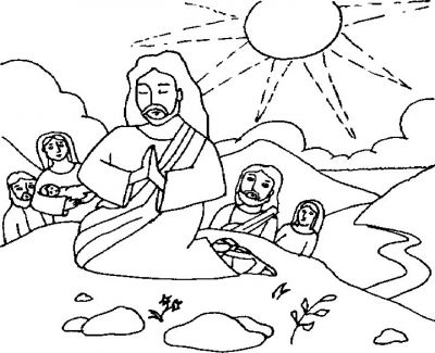 400x325 Jesus Praying Coloring Page Printable Coloring Page