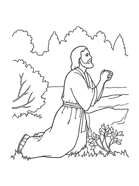 447x596 Jesus Praying In The Garden Of Gethsemane Coloring Page Gallery