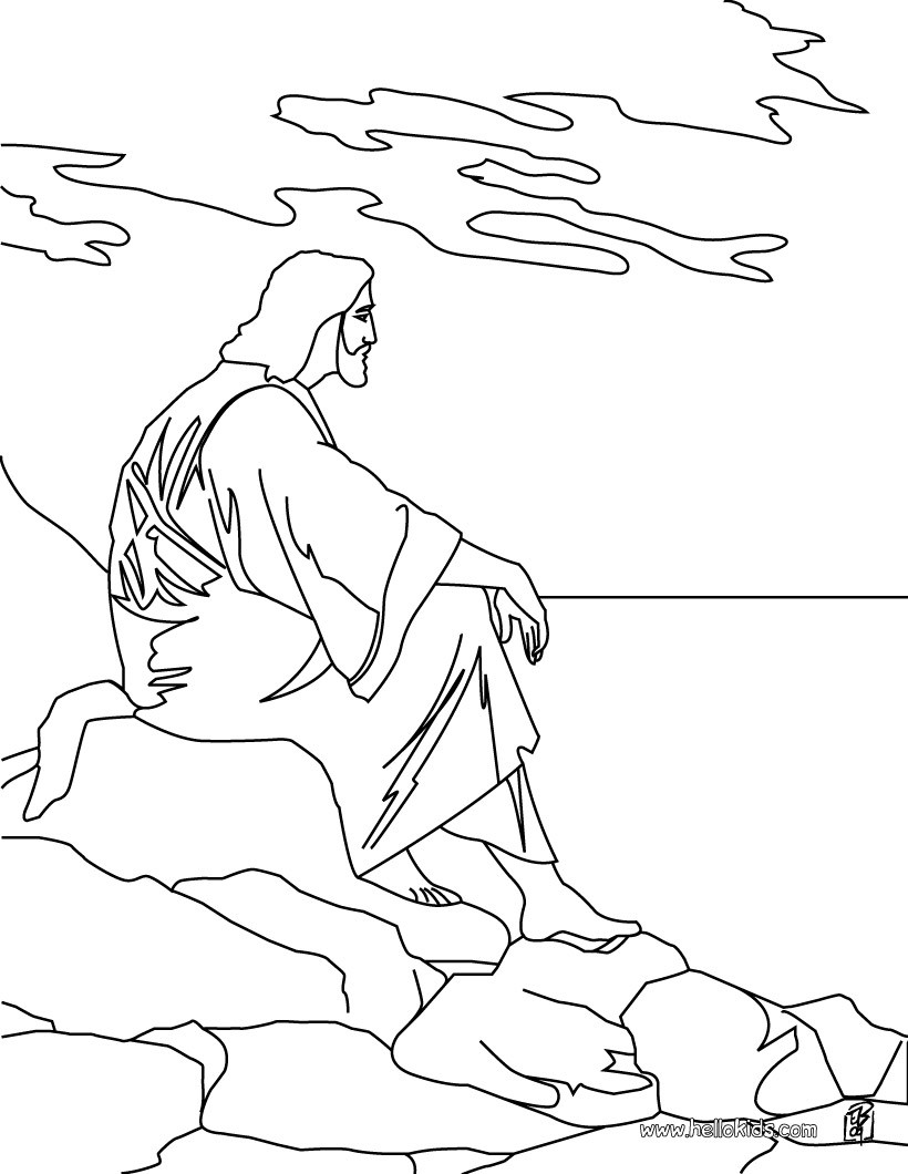 820x1060 Jesus And The Mount Of Olives Coloring Pages
