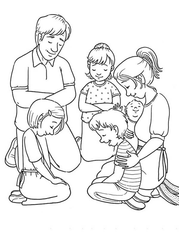 600x822 Pray Coloring Pages