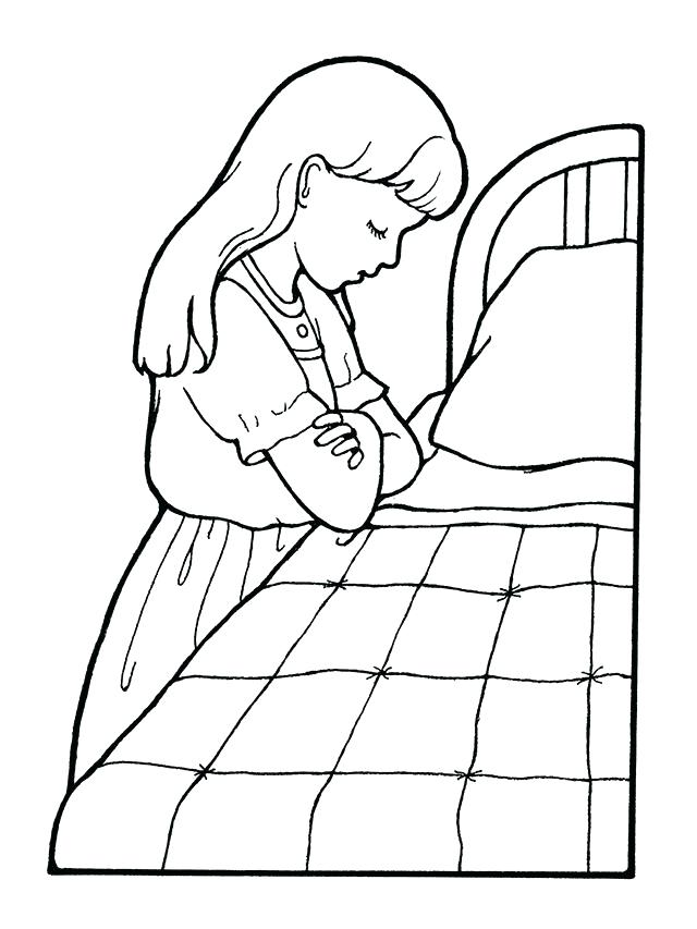 640x853 Praying Coloring Pages Children Praying Coloring Page Download