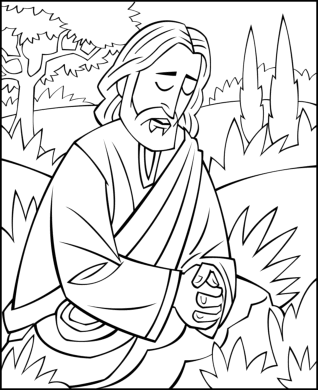 318x390 Sunday School Coloring Page