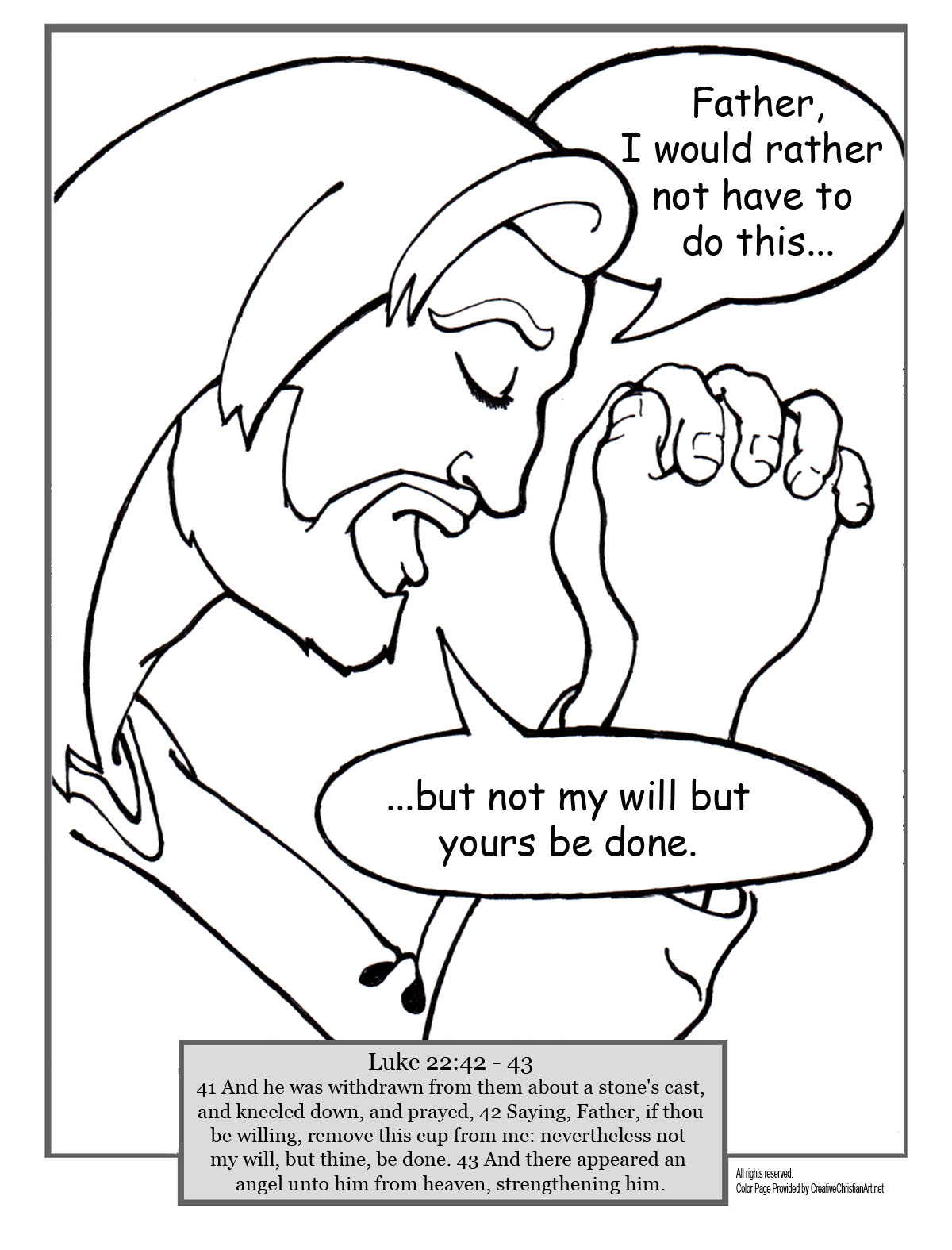 1200x1575 Coloring Pages Of Jesus Praying Jesus Prays