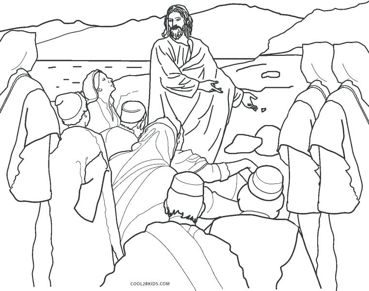761x600 Coloring Page Jesus Teaching In The Temple Coloring Page Coloring