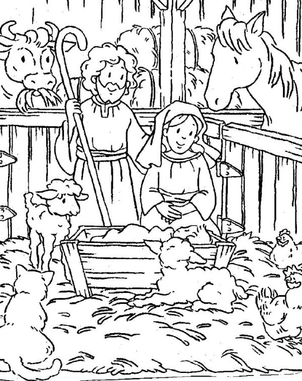 600x757 Free Printable Coloring Pages Jesus Birth Christmas Dikma Info