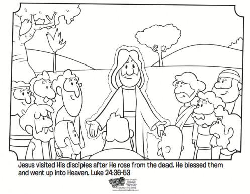 497x385 Jesus Resurrection Coloring Pages Unique Jesus Appears To His