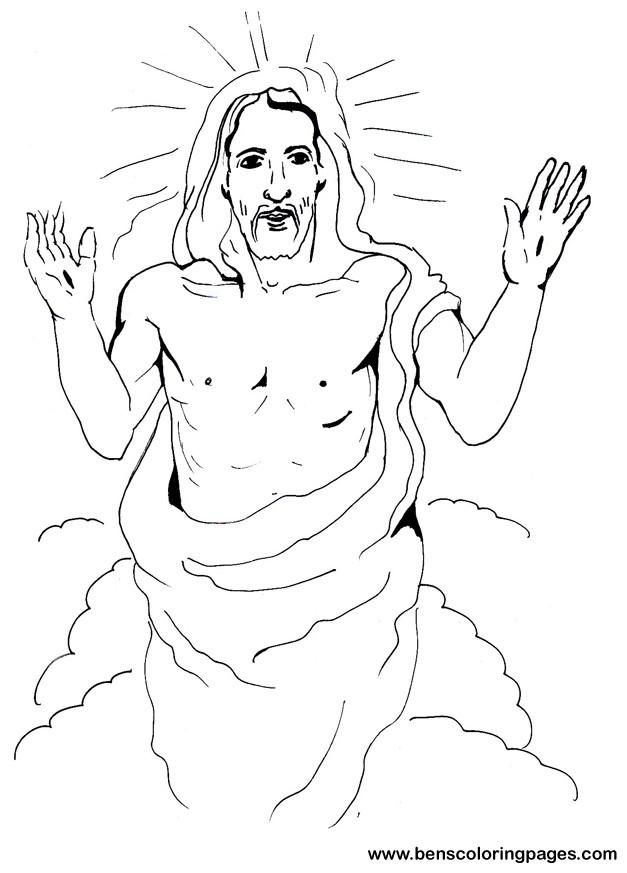 627x873 Jesus Resurrection Coloring Page