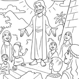 268x268 Coloring Page Of Jesus Teaching Archives
