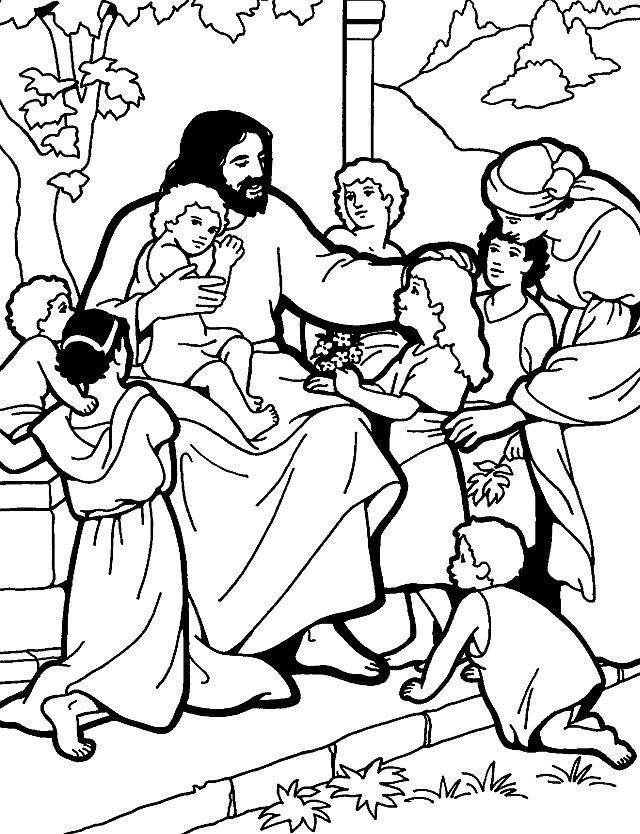640x834 Free Coloring Pages Of Jesus Teaches Us To Pray Ideas