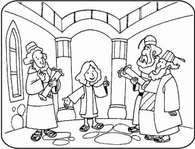 285x218 Jesus In Temple Coloring Page Images Jesus Teaching