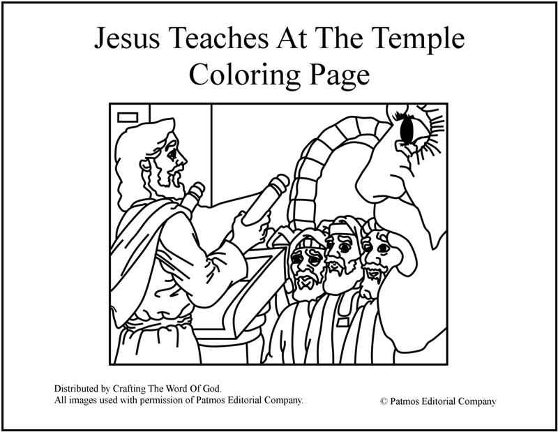 800x619 Jesus Teaches At The Temple Coloring Page Crafting The Word Of God