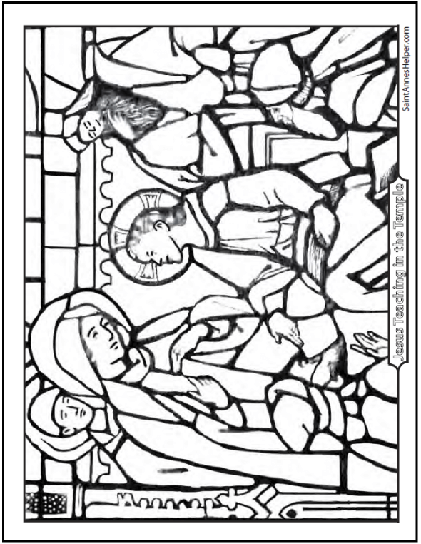 590x762 Jesus Teaching Coloring Page