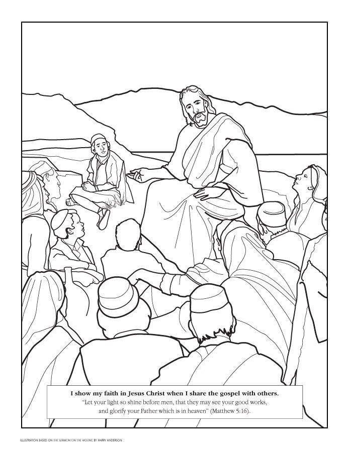 694x902 Jesus Teaching Coloring Pages