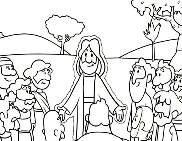 600x465 Jesus Teaching Coloring Pages Printable