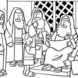 268x268 Jesus Teaching In The Synagogue Coloring Page Coloring Page
