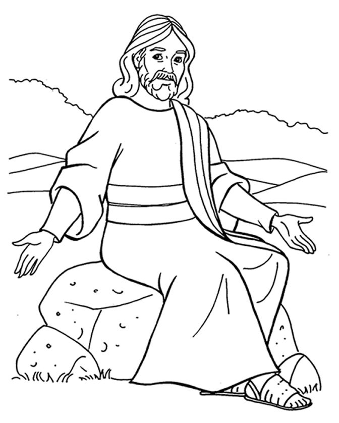 672x838 Jesus Teaching Parables Coloring Pages Junior Church