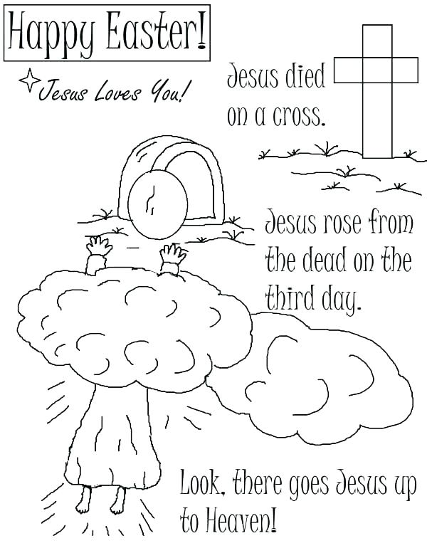 600x777 Bible Coloring Pages Jesus Teaching Resurrection Print Website
