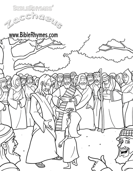 The best free Zacchaeus coloring page images. Download from 50 free ...