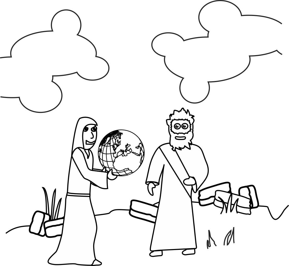 Jesus Temptation Coloring Page at GetDrawings | Free download