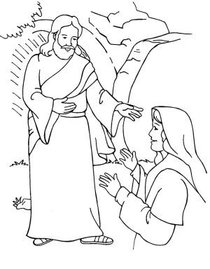 Jesus Tomb Coloring Page