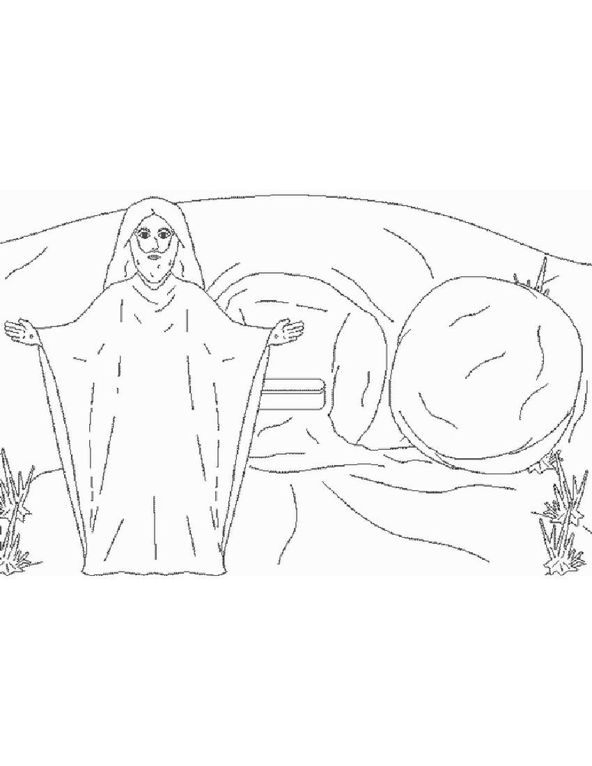 850x1100 Easter Jesus And Tomb Coloring Pictures Free Coloring Pages
