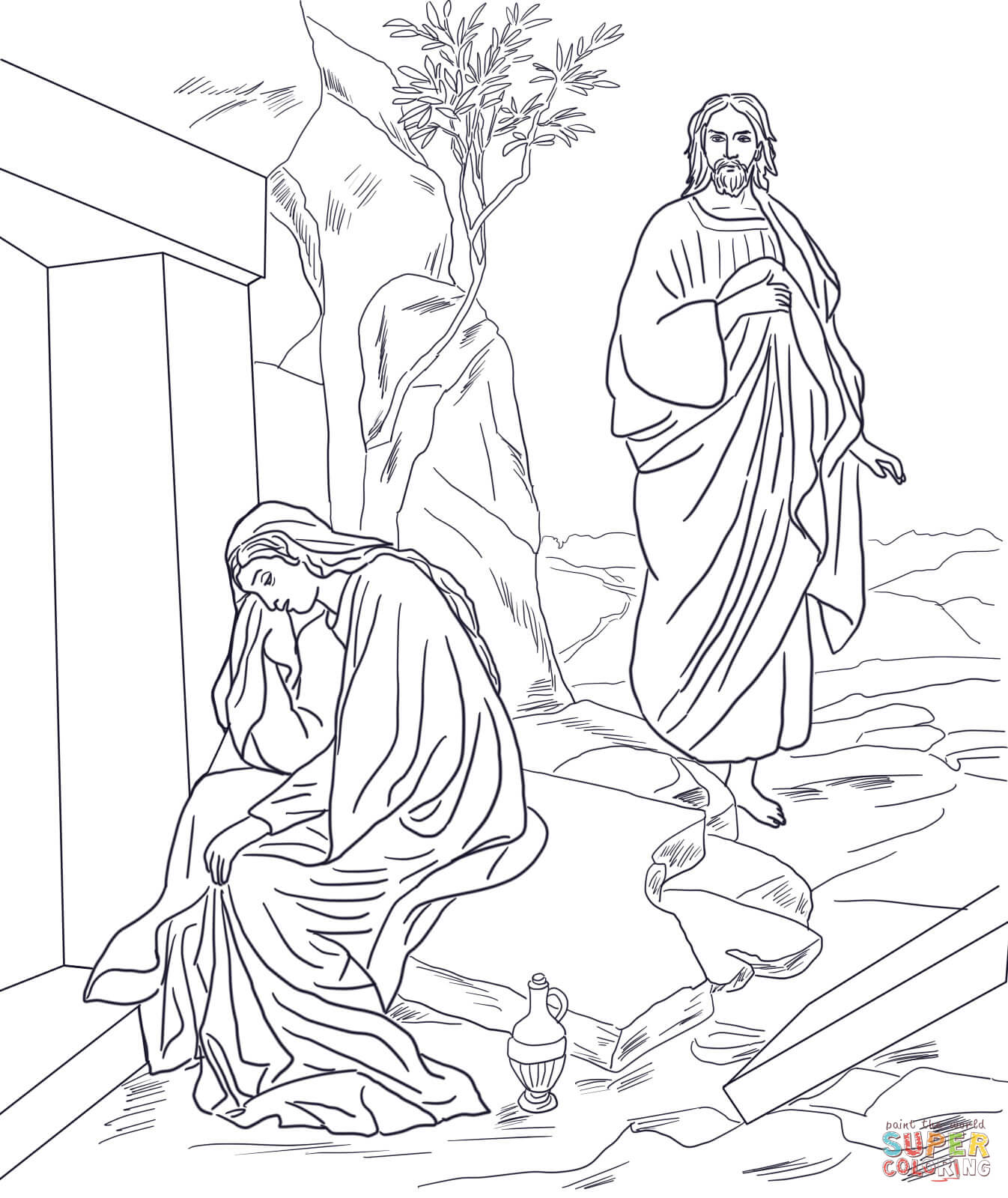 1346x1600 Jesus Appears To Mary Magdalene After Resurrection Super