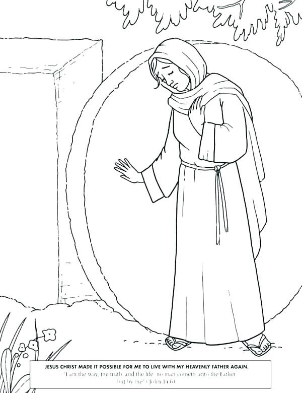 600x780 Jesus Is Risen Coloring Page Great Mission A Appears