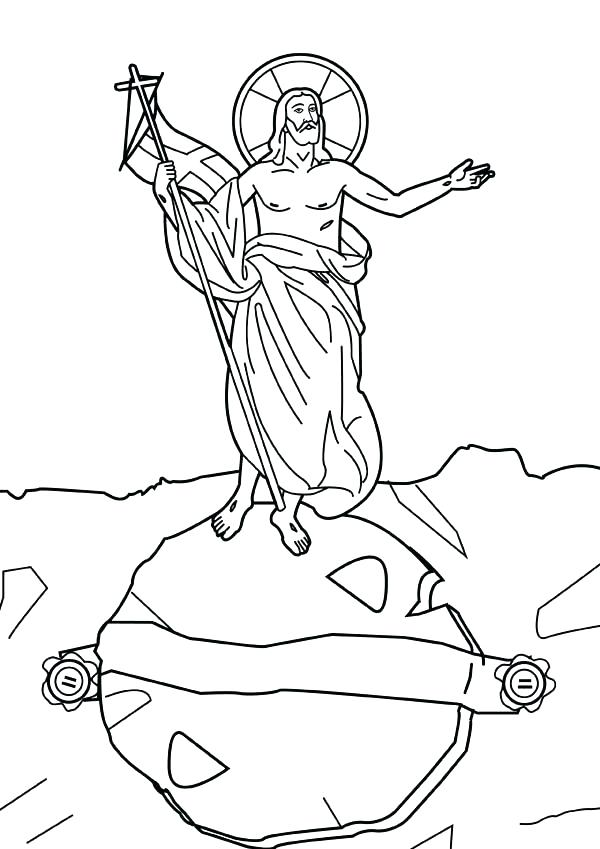 600x849 Jesus Resurrection Coloring Pages Color Page Top Coloring Page