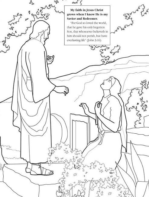 493x650 Jesus Resurrection Coloring Pages Unique Jesus Appears To His