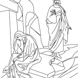 268x268 Printable Coloring Pages Of Jesus Resurrection Archives
