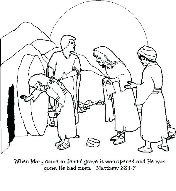 600x654 Resurrection Coloring Pages Resurrection In Coloring Page Jesus