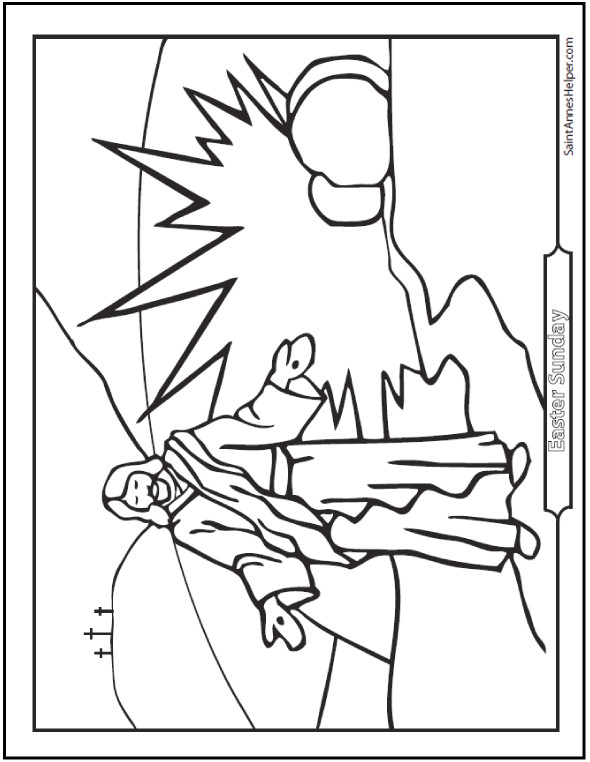 590x762 Best Of Coloring Page Jesus Resurrection Coloring Ws